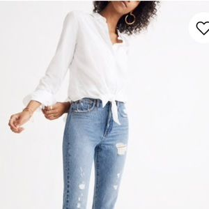 Madewell Tie-Front Shirt